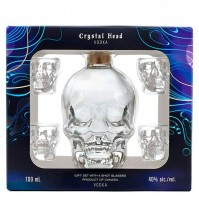 Crystal Head + 4 Glasses