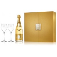 Louis Roederer Brut Cristal Case + 2 Glasses  2008