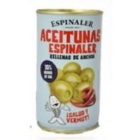 Aceitunas Espinaler Rellenas Bajas en Sal 350gr.