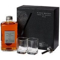 NIKKA FROM THE BARREL CASE + 2 GLASSES AND DISPENSER