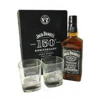 JACK DANIEL'S OLD Nº7 150 ANNIVERSARY CAN + 2 VASES