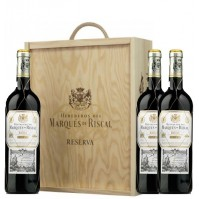 MARQUÉS DE RISCAL WOOD CASE 3 BOTTLES