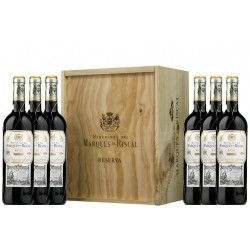 MARQUÉS DE RISCAL WOOD CASE 6 BOTTLES
